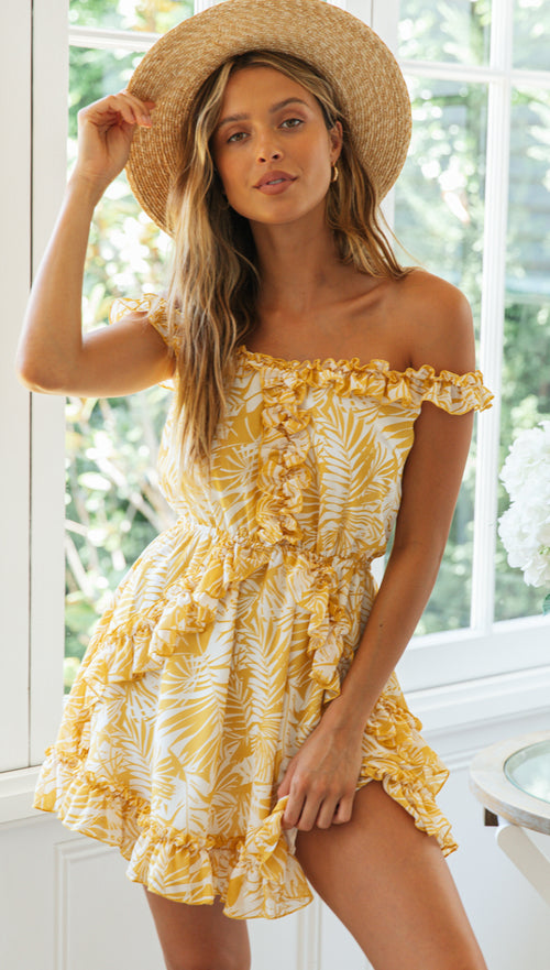Breeze Mini Dress (Yellow)