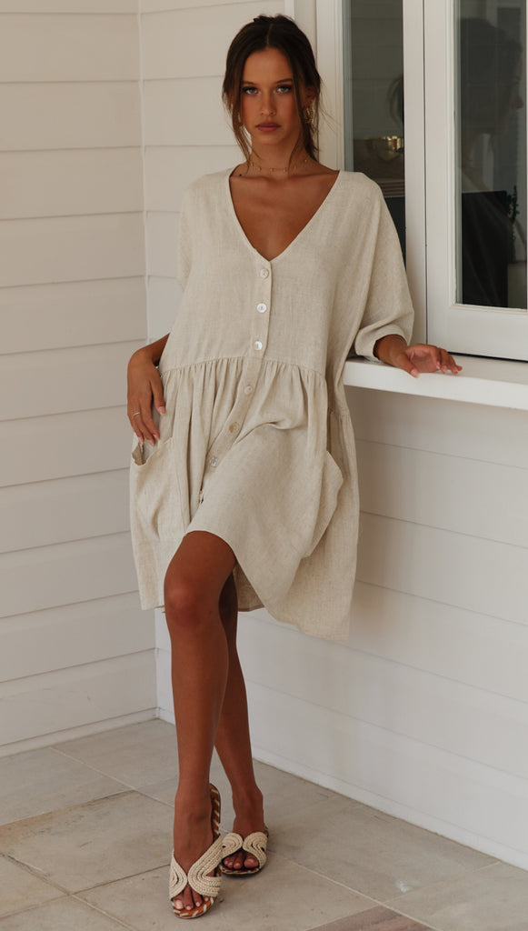 St Cloud Dress (Beige)