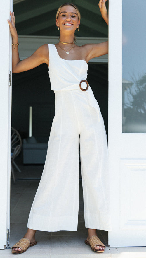 Jaylin Jumpsuit (White)