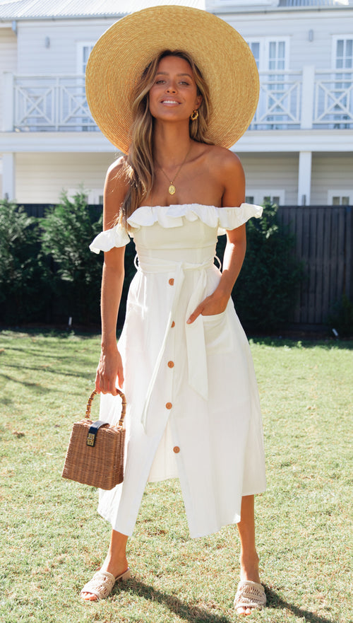 Saint Louis Dress (White)