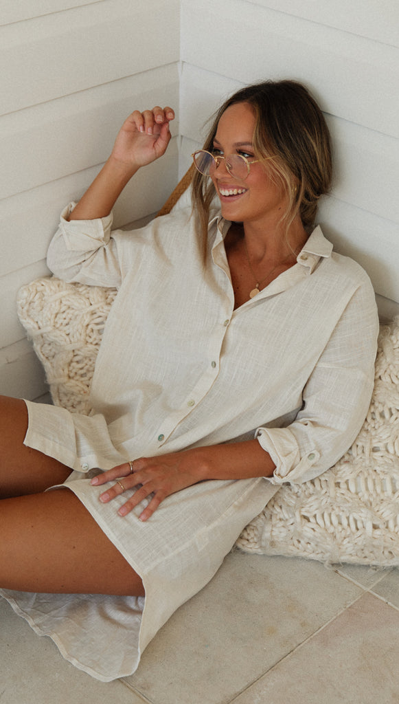 City Slicker Top (Beige)