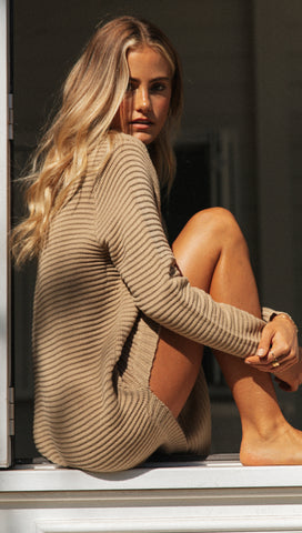 Abella Knit Dress (Tan)