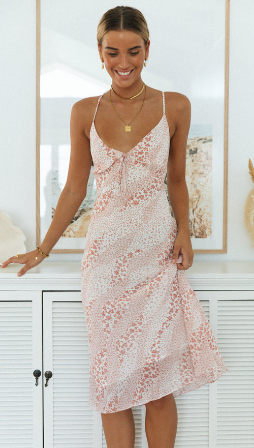 Trinity Dress (Pink Floral)