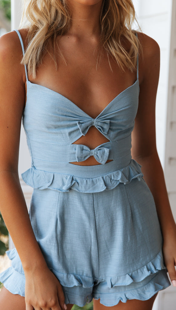 Dominica Playsuit (Blue)