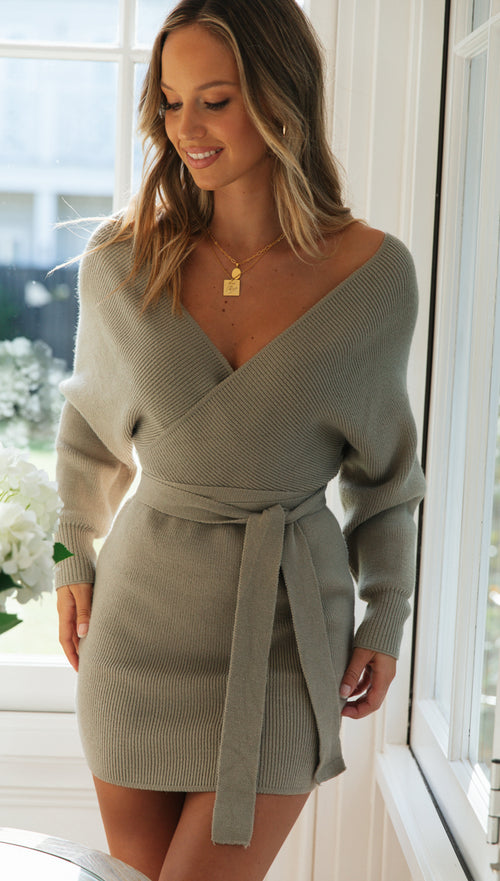 Mornington Knit Dress (Olive)