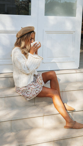 Sylvie Mini Skirt (Cream Floral)