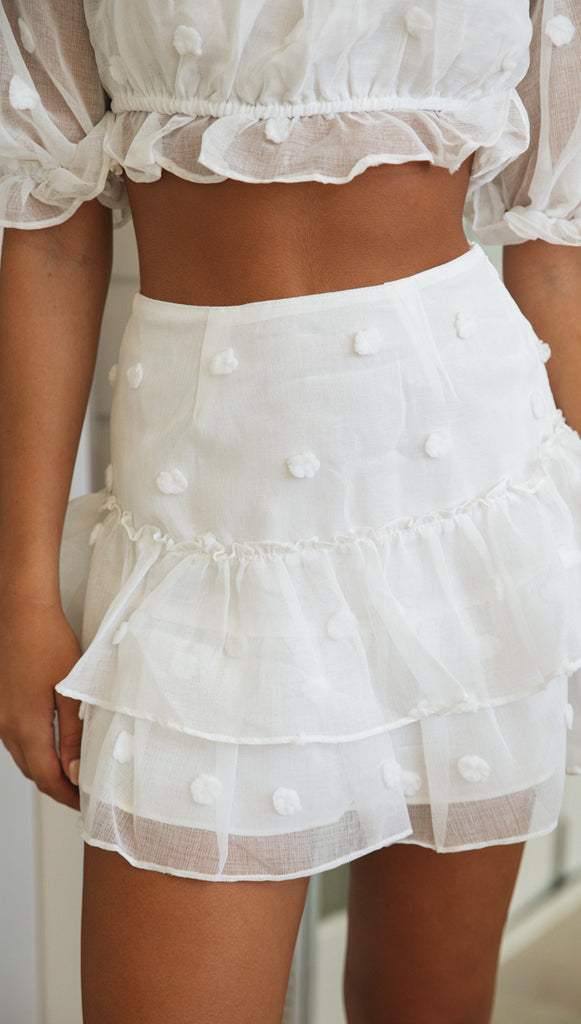Madelyn Skirt (White)