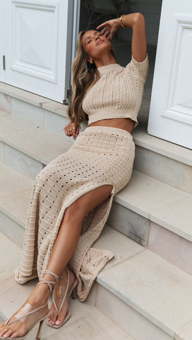 Serena Knit Top (Sand)