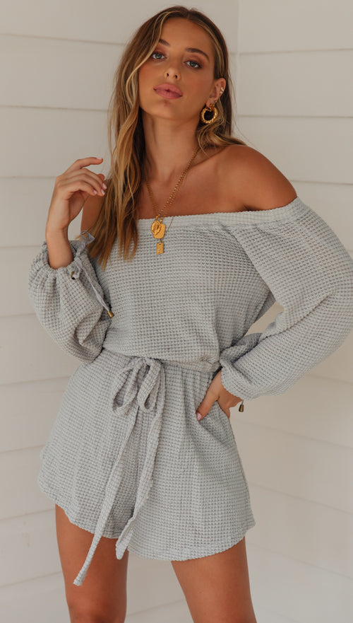 Gretta Playsuit (Grey)