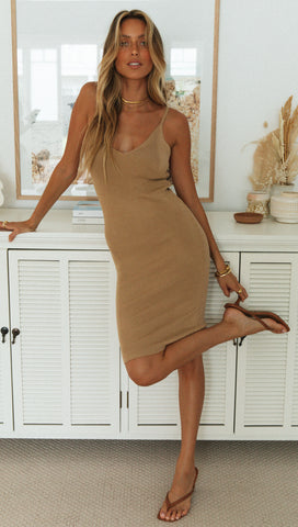 Senorita Dress (Mocha)