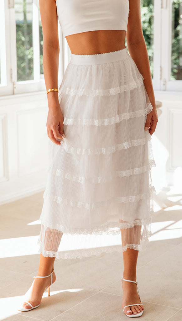 Angelina Skirt (White)