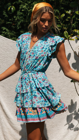 Kelani Dress (Teal)