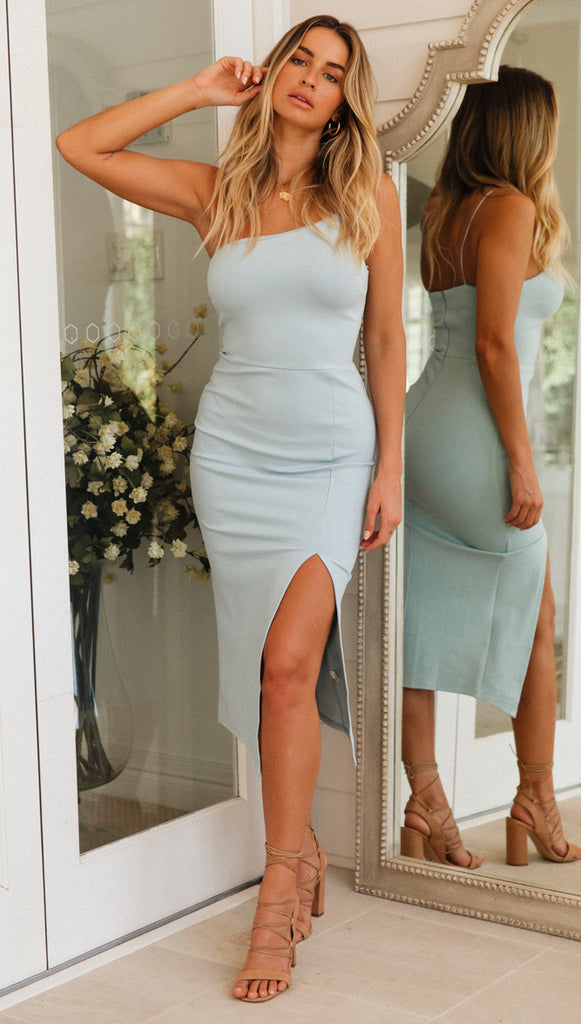 Zoe Dress (Blue) (Sample Sale)