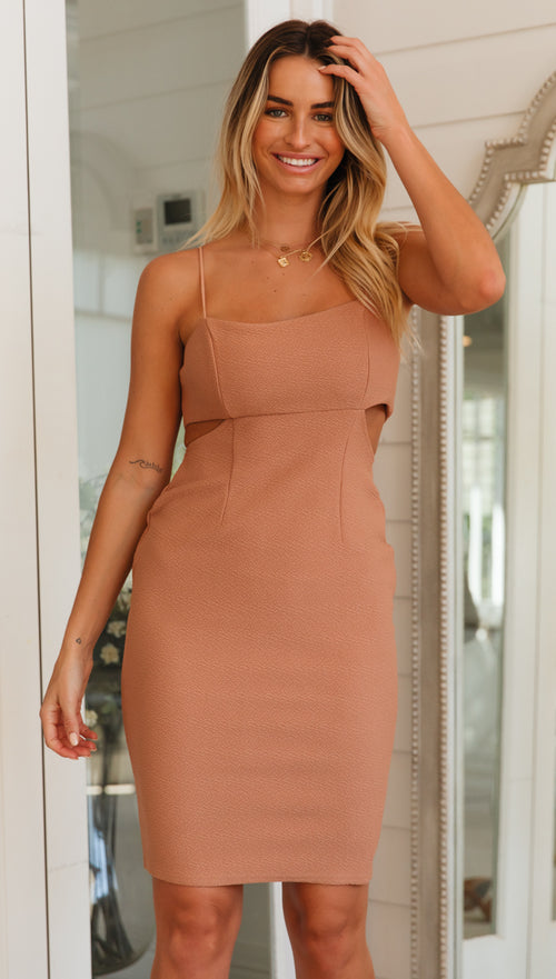 Coral Springs Dress (Tan)