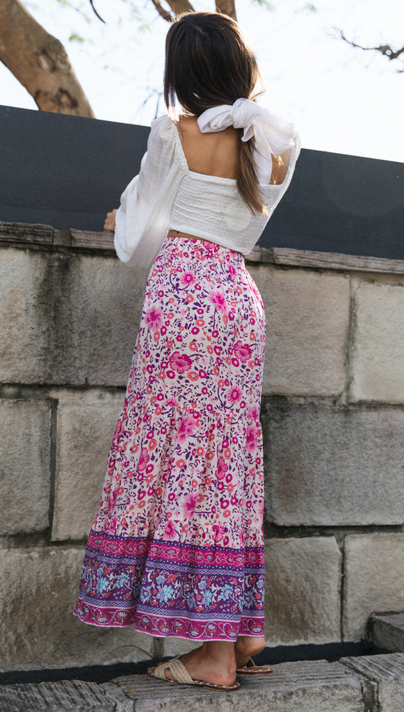 Ambrosia Skirt (Violet Purple Floral)