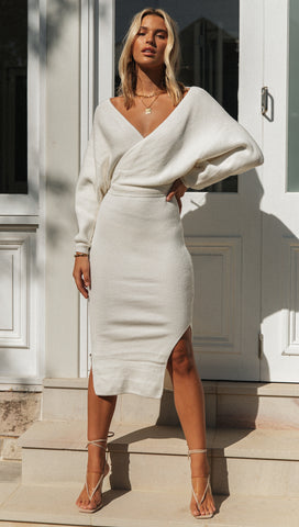 Kennedy Dress (White)
