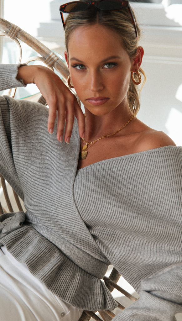 Wrap Me Up Top (Grey)