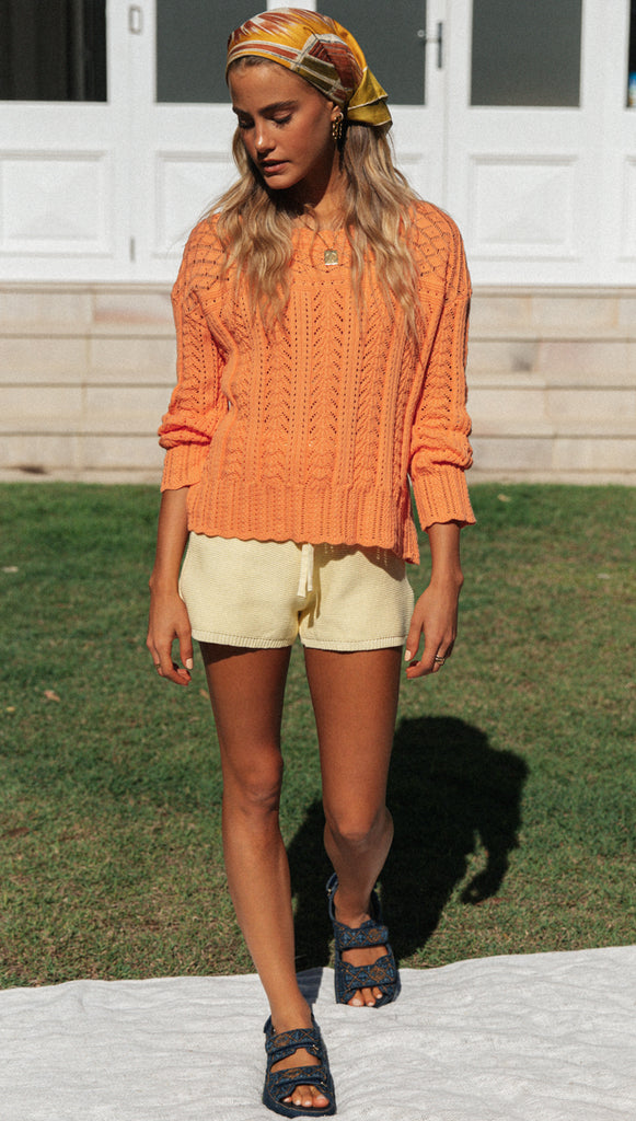 Sterling Knit (Sherbet Orange)