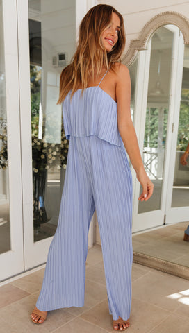 Calypso Jumpsuit (Steel Blue)