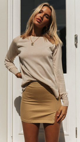 Jenner Skirt (Tan)
