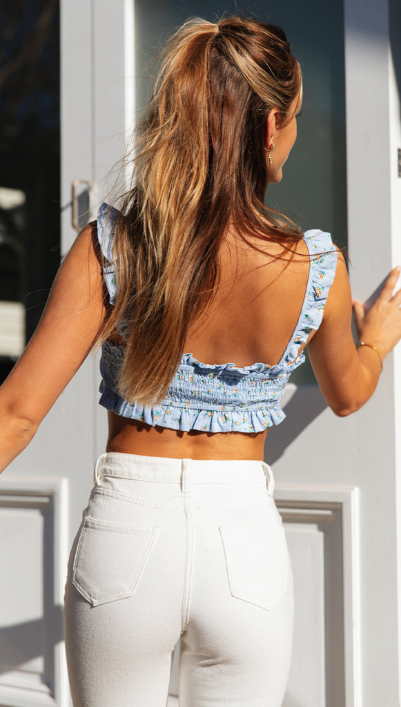 Willow Top (Blue Floral)