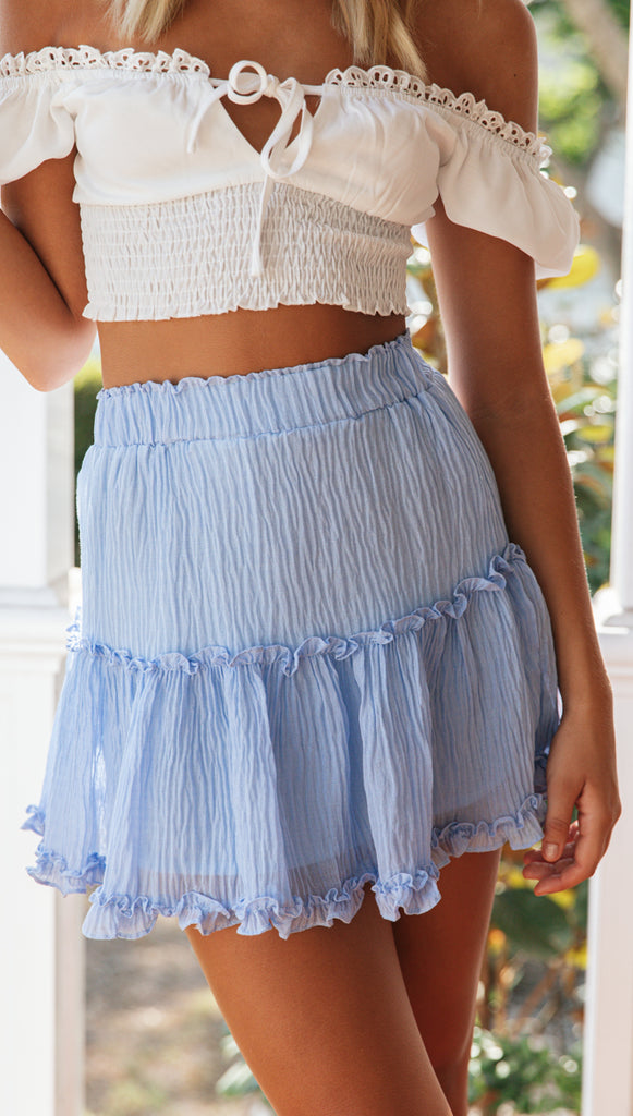 Gina Mini Skirt (Blue)