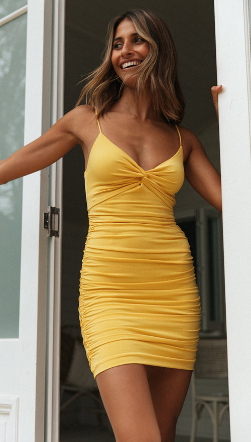 Timeless Mini Dress (Yellow)