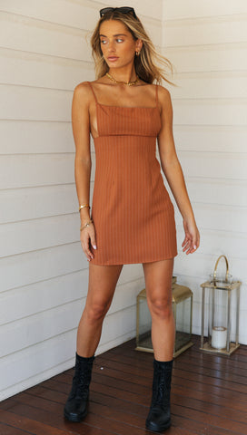 Versailles Mini Dress (Burnt Orange)