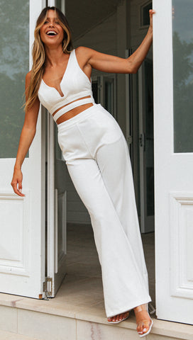 Villo Vento Jumpsuit (White) Sample Sale