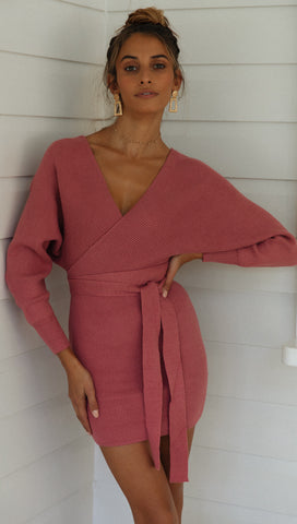 Mornington Knit Dress (Rose)