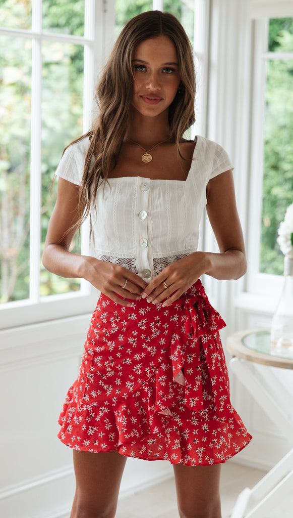 Wild Rose Wrap Skirt