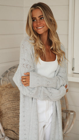 Chenille Cardigan (Grey)