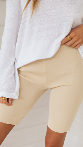 Fall in Line Bike Shorts (Sand)