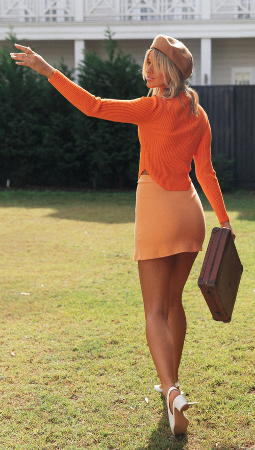 Marlo Mini Skirt (Orange)