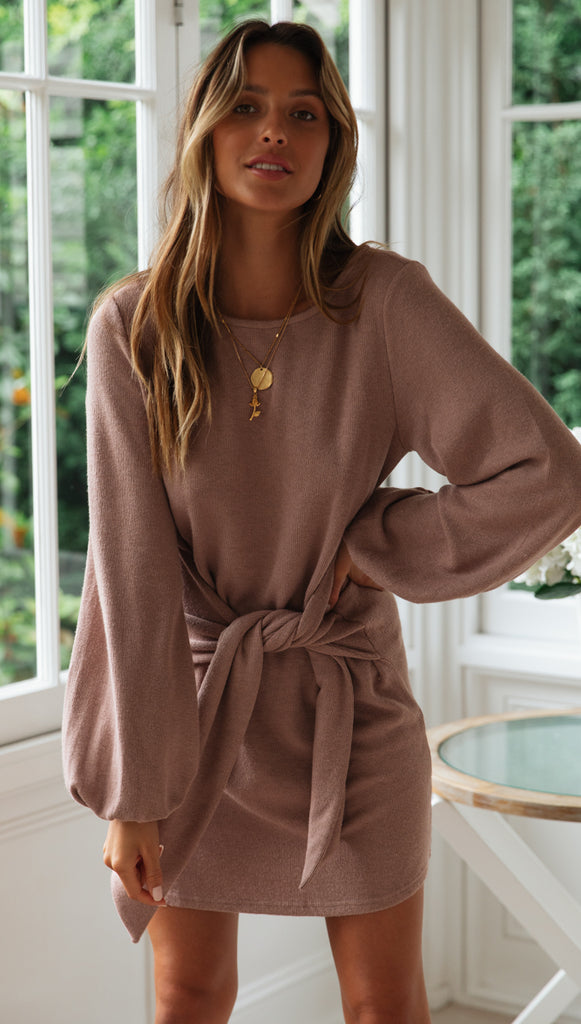 Lacey Dress (Mocha)