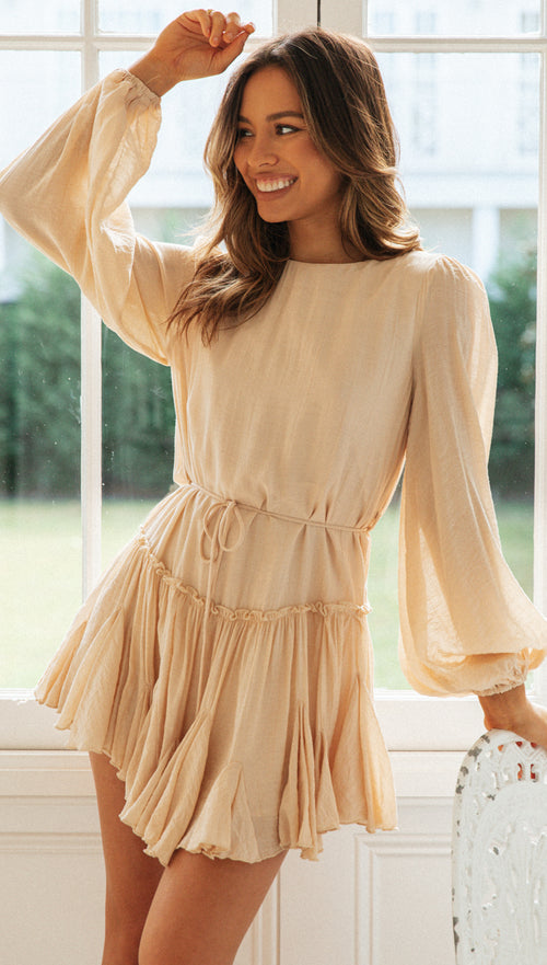 Floriana Dress (Beige)