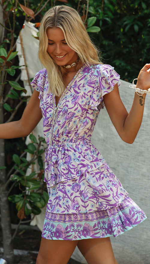 Kelani Dress (Purple)