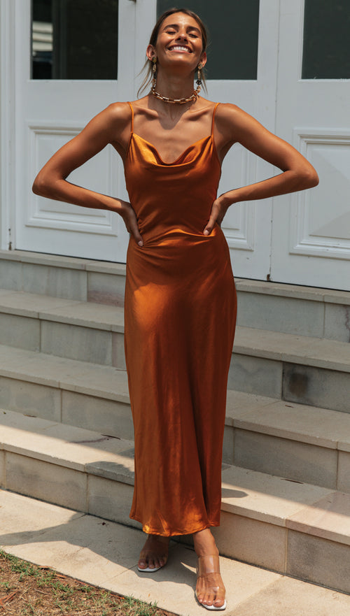 Golden Age Dress (Rust)