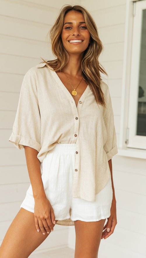 Somerset Top (Beige)