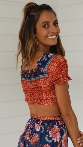 Esmee Crop (Navy)