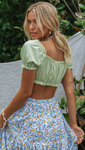 Mila Crop (Lime)