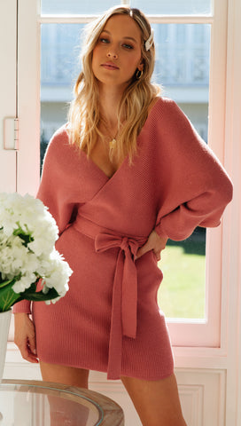 Mornington Knit Dress (Rose) Sample Sale
