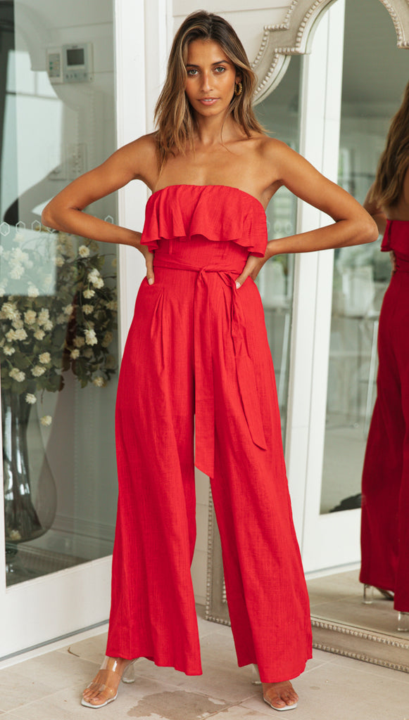 Hattie Jumpsuit (Red)