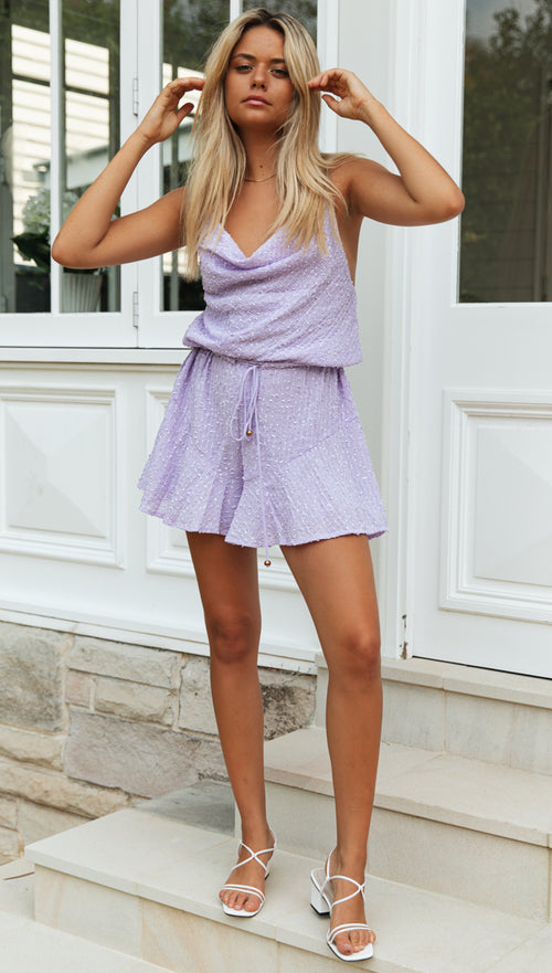 Night Light Playsuit (Lavendar)