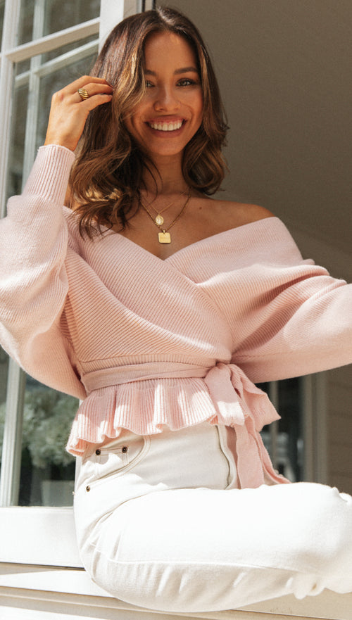 Wrap Me Up Top (Blush)
