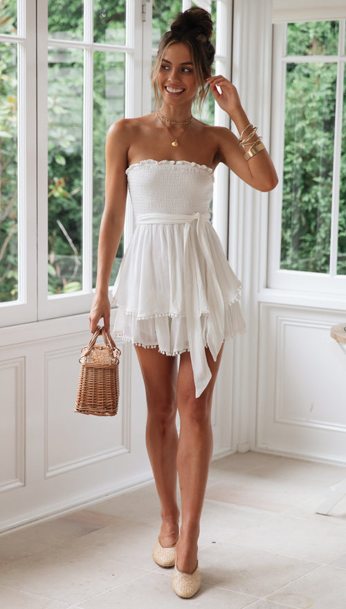 Amaretto Playsuit (White)