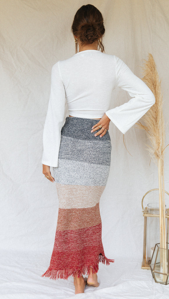 Honolulu Skirt (Multi Stripe)