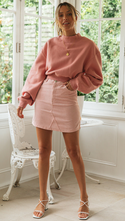 Chateau Skirt (Pink) (Sample Sale)