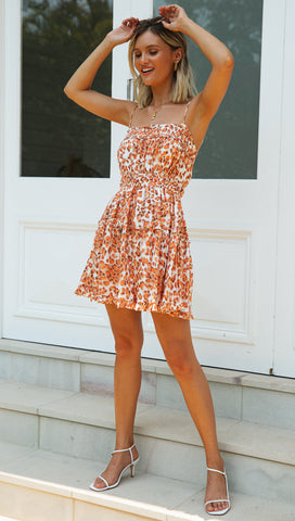 Dempsey Mini Dress (Orange)