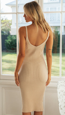 Gisella Midi Dress (Nude)